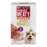 Purina Moist & Meaty Adult Dog Food Burger with Cheddar Cheese - 12 pk