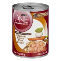 Purina ONE SmartBlend Dog Food Chicken & Brown Rice Entree in Gravy