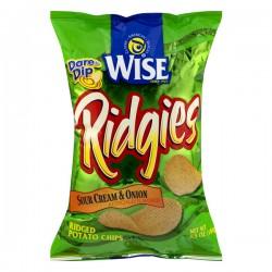WISE Ridgies Potato Chips Sour Cream & Onion