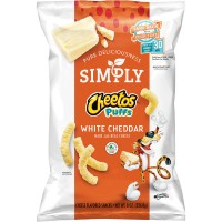 Cheetos Simply Puffs Cheese Flavored Snacks White Cheddar