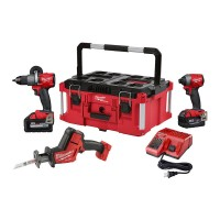 Milwaukee M18 FUEL 18-Volt Lithium-Ion Brushless Cordless Combo Kit (3-Tool) W/ One 6.0Ah and 5.0Ah Battery and PACKOUT Case