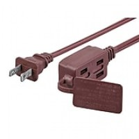 6FT 16/2 SPT-2 BROWN 3-OUTLET HOUSEHOLD EXTENSION CORD