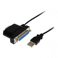 StarTech 3' Type A Male USB DB-25 Female Parallel/DB-9 Male Serial Adapter Cable, Black