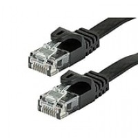 Monoprice® 7' 30AWG Cat5e UTP Flat Ethernet Network Cable, Black