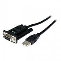StarTech 3.3' DB-9 Female To Type A Male USB DCE Adapter Cable With FTDI, Black
