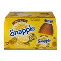 Snapple Lemon Iced Tea All Natural - 12 pk