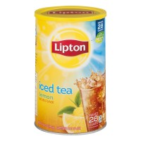 Lipton Natural Lemon Flavor Iced Tea Mix Sugar Sweetened - Makes 28 Quarts