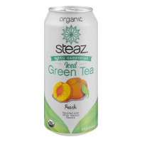 Steaz Iced Green Tea Lightly Sweetened Peach Organic
