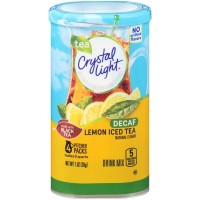 Crystal Light Drink Mix Lemon Iced Tea Decaf - Makes 8 Quarts