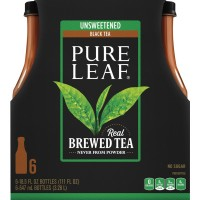 Pure Leaf Real Brewed Black Tea Unsweetened All Natural - 6 pk