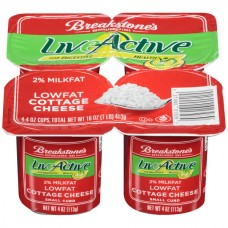 Breakstone's LiveActive Cottage Cheese Small Curd 2% Low Fat - 4 pk
