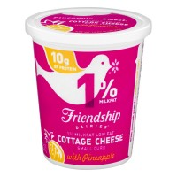 Friendship Dairies Cottage Cheese with Pineapple 1% Low Fat