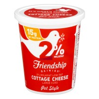 Friendship Dairies Cottage Cheese Large Curd Pot Style Low Fat
