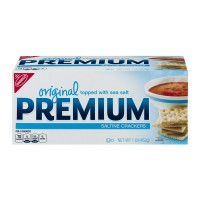 Nabisco Premium Saltine Crackers Original Topped with Sea Salt
