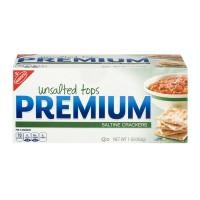 Nabisco Premium Saltine Crackers Unsalted Tops