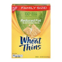 Nabisco Wheat Thins Crackers Reduced Fat Family Size