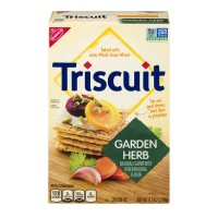 Nabisco Triscuit Baked Whole Grain Wheat Crackers Garden Herb
