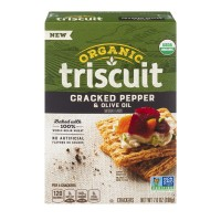 Nabisco Triscuit Crackers Cracked Pepper & Olive Oil Organic