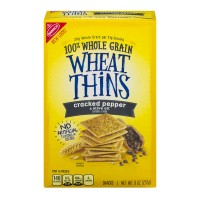 Nabisco Wheat Thins Crackers Cracked Pepper & Olive Oil