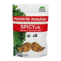 Green Mustache Munchies Baked Crackers Spicy-ish Gluten Free Organic