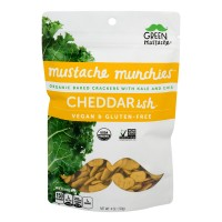 Green Mustache Munchies Baked Crackers Cheddar-ish Gluten Free Organic