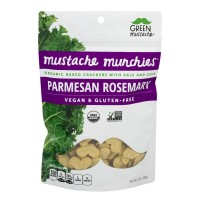 Green Mustache Munchies Baked Crackers Parmesan Rosemary Organic