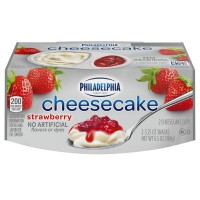 Philadelphia Cheesecake Cups Strawberry Refrigerated - 2 ct