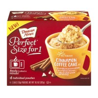 Duncan Hines Perfect Size for 1 Cinnamon Coffee Cake Mix - 4 ct