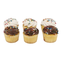 The Bake Shop Cupcakes Yellow Iced - 6 ct