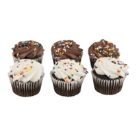 The Bake Shop Cupcakes Chocolate - 6 ct