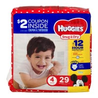Huggies Snug & Dry Size 4 Diapers 22-37 lbs Jumbo Pack