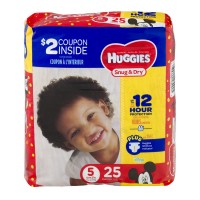 Huggies Snug & Dry Size 5 Diapers 27+ lbs Jumbo Pack