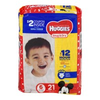 Huggies Snug & Dry Size 6 Diapers 35+ lbs