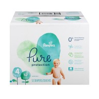 Pampers Pure Protection Size 4 Diapers 22-37 lbs Super Pack