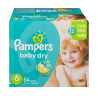 Pampers Baby Dry Size 6 Diapers 35+ lbs Super Pack