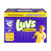 Luvs Ultra LeakGuards Size 5 Diapers 27+ lbs Big Pack
