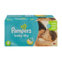 Pampers Baby Dry Size 4 Diapers 22-37 lbs Super Pack