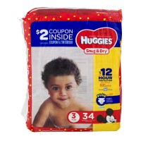 Huggies Snug & Dry Size 3 Diapers 16-28 lbs Jumbo Pack