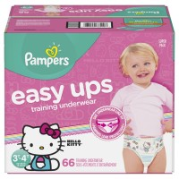 Pampers Easy Ups 3T-4T Training Underwear Girls 30-40 lbs