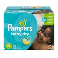 Pampers Baby Dry Size 5 Diapers 27+ lbs Super Pack