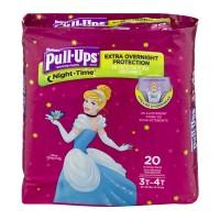 Huggies Pull-Ups Night Time 3T-4T Training Pants Girls 32-40 lbs