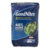 GoodNites S/M Bedtime Pants Boys 38-65 lbs