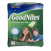 GoodNites Bed Mats Disposable Super Absorbent 2.4 x 2.8 ft