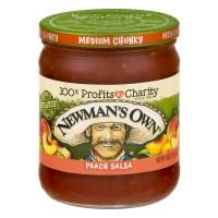 Newman's Own Chunky Peach Salsa Medium