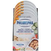 Philadelphia Bagel Chips & Cream Cheese Dip Garden Vegetable