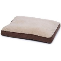"Brown Memory Foam Rectangular Pillow Dog Bed, 30"" L x 40"" W"