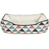 "Harmony Triangle Print Nester Dog Bed, 24"" L x 18"" W"