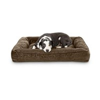 "Harmony Urban Luxe Chocolate Memory Foam Sleeper Dog Beds, 40"" L X 30"" W"