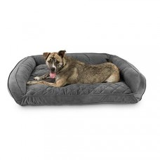 "Harmony Urban Luxe Gray Memory Foam Sleeper Dog Beds, 48"" L X 36"" W"