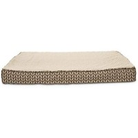 Harmony Tan Memory Foam Lounger Dog Bed, Large